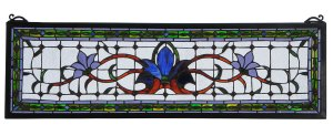 Fairytale Transom Blue | Stained Glass Panel