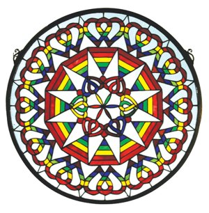 "Rainbow Expression Medallion | Stained Glass Window | 20"" W X 20"" H"