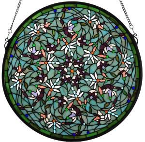 "Dragonfly | Art Glass Panel | 22"" X 22"""