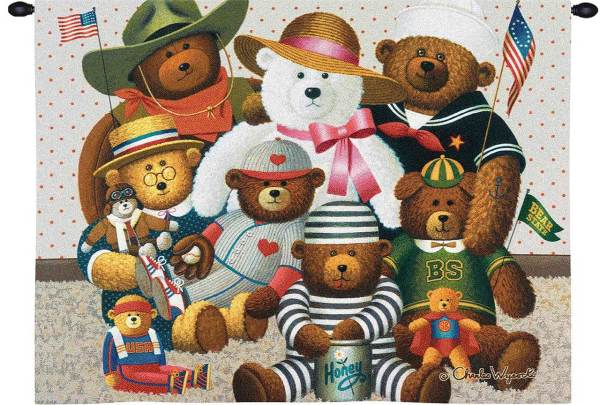 Gangs All Here by Charles Wysocki | Wall Tapestry | 34 x 26