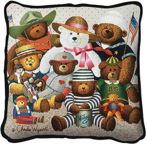 Gangs All Here by Charles Wysocki | Throw Pillow | 17 x 17