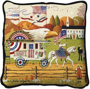So Proudly We Hail by Charles Wysocki | Throw Pillow | 17 x 17