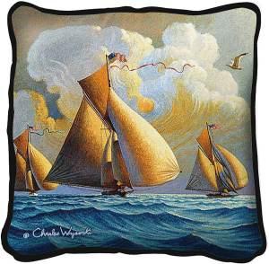 The Searam by Charles Wysocki | Throw Pillow | 17 x 17