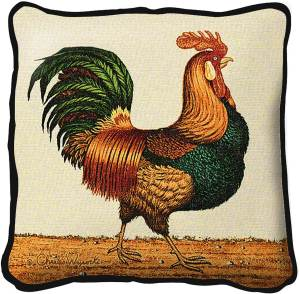 Rooster by Charles Wysocki | Throw Pillow | 17 x 17