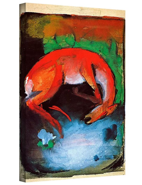 Dead Dear by Franz Marc Art Print on Canvas