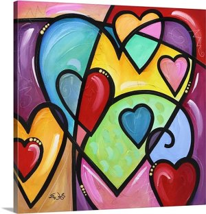 A lot of heart III by Eric Waugh Canvas Art Print