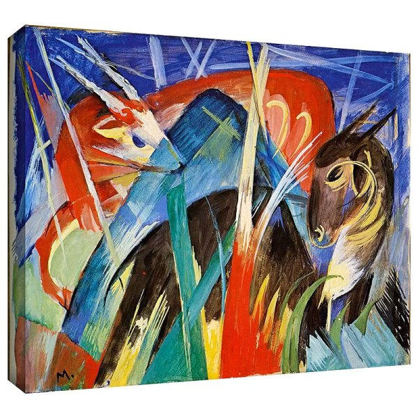 Fairy Animals by Franz Marc Painting Print on Canvas