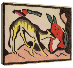 Faultier by Franz Marc Art Print on Canvas