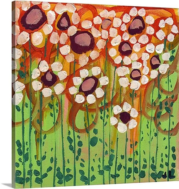 Growing Daisies by Jennifer Lommers Art Print on Canvas