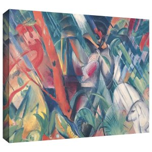 In the Rain Franz Marc Painting Print on Canvas