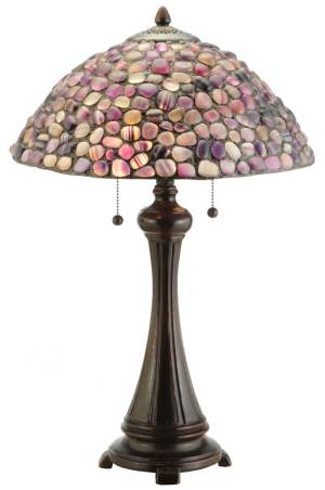"25"" H Jasper Purple Table Lamp"