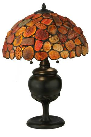 "24""H Jasper Red Table Lamp"