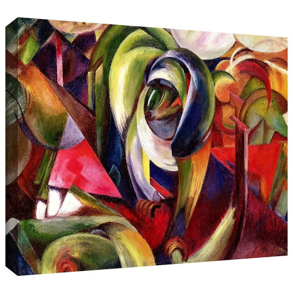 Mandrill by Franz Marc Art Print on Canvas