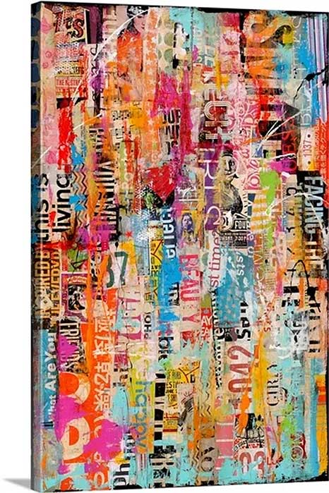 Metromix XXVII by Erin Ashley Art Print on Canvas