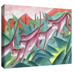 Monkey Frieze by Franz Marc Painting Print on Gallery Wrapped Canvas