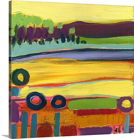 Morning Skagit Fields No. 1 by Jennifer Lommers Art Print on Canvas