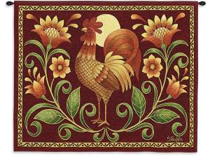 Sunrise Rooster | 34 x 26 | Wall Tapestry