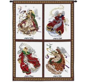 Celestial Angel   Christmas Tapestry   34 x 26
