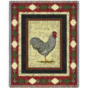 Le Coq (Rooster) | Afghan Blanket