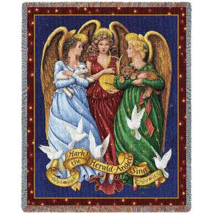 Angels | Christmas Tapestry Blanket | 70 x 54