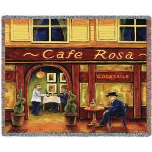 Cafe Rosa Contemporary   Throw Blanket