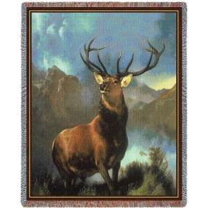 "Monarch Of The Glen | Tapestry Blanket | 54"" x 70"""