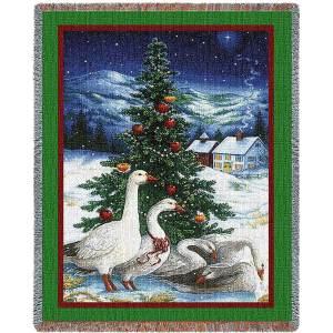 Christmas Goose | Christmas Seasonal Throw Blanket