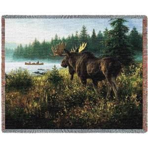 In His Domain (Moose) | Tapestry Blanket | 70 x 54