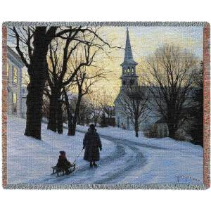 Winters Eve Contemporary | Throw Blanket