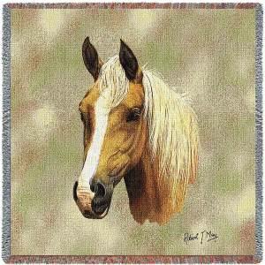 Palomino Horses   Throw Blanket   54 x 54