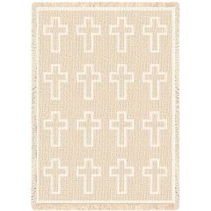Cross Natural | Afghan Blanket | 48 x 69