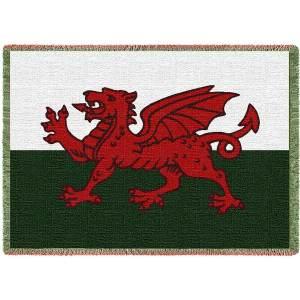 Welsh Dragon   Afghan Throw Blanket