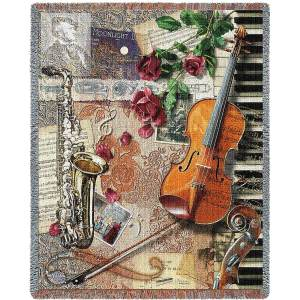Ensemble of Music Instruments Blanket | 54 x 70