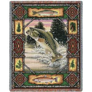 "Fish Lodge | Tapestry Blanket | 54"" x 70"""