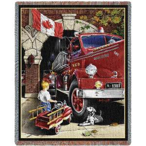 Canadian Childhood Dreams   Tapestry Blanket   54 x 70