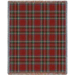 "Stewart Royal Plaid   Tapestry Blanket   53"" x 70"""