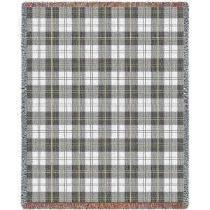 "Soft Greyish Plaid | Tapestry Blanket | 53"" x 70"""
