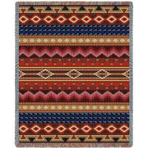 Southwest Sampler Maize and Cornflower | Tapestry Blanket | 54 x 70