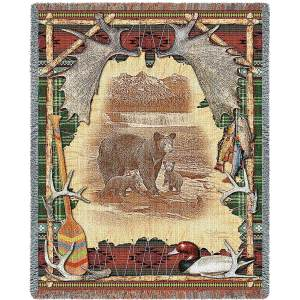 "Antler Lodge | Tapestry Blanket | 54"" x 70"""