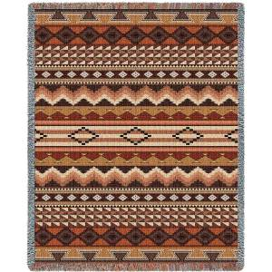 Southwest Sampler Clay Blanket | Woven Throw