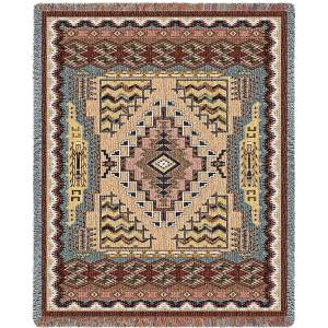 Southwest Butte Clay | Woven Blanket