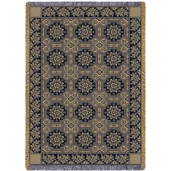 1845 Quilt Black | Afghan Blanket | 48 x 69