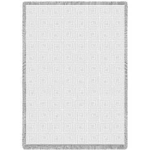 Maze Mini White | Afghan | 48 x 35