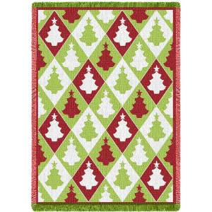 Christmas Tree Diamond | Afghan Blanket | 48 x 69