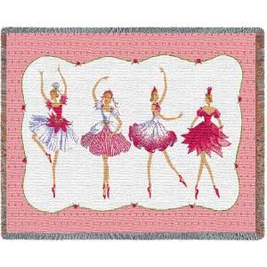 Four Ballerinas Blanket   54 x 70