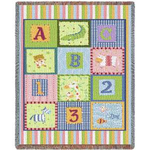 ABC 123 Mini Blanket | 34 x 53