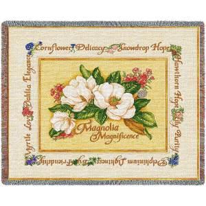 Magnolia Magnificence | Afghan Blanket | 70 x 54