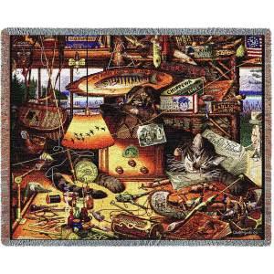 Charles Wysocki | Max In Adirondacks | Cotton Cotton Throw Blanket | 70 x 54