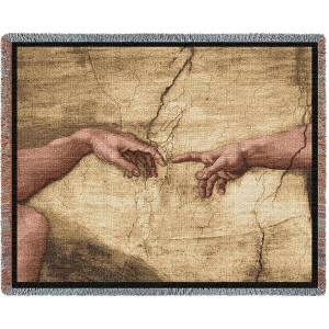Creation Of Adam Blanket   70 x 54