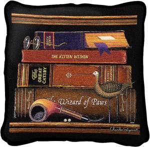 Charles Wysocki   Classic Tails II   Decorative Throw Pillow   17 x 17